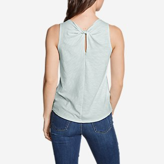 Thumbnail View 1 - Women's Gate Check Twist-Back Tank Top - Solid