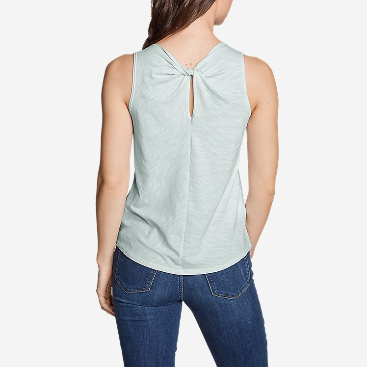 Women's Gate Check Twist-Back Tank Top - Solid large version