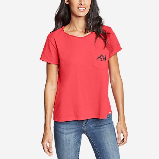 Thumbnail View 1 - Women's Gypsum Short-Sleeve Pocket T-Shirt - Graphic