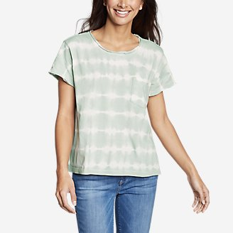 Thumbnail View 1 - Women's Gypsum Short-Sleeve Pocket T-Shirt - Tie Dye