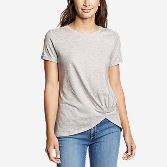 Thumbnail View 1 - Women's Gate Check Short-Sleeve Twist-Front T-Shirt