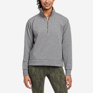 Thumbnail View 1 - Women's Cozy Camp 1/4-Zip Sweatshirt