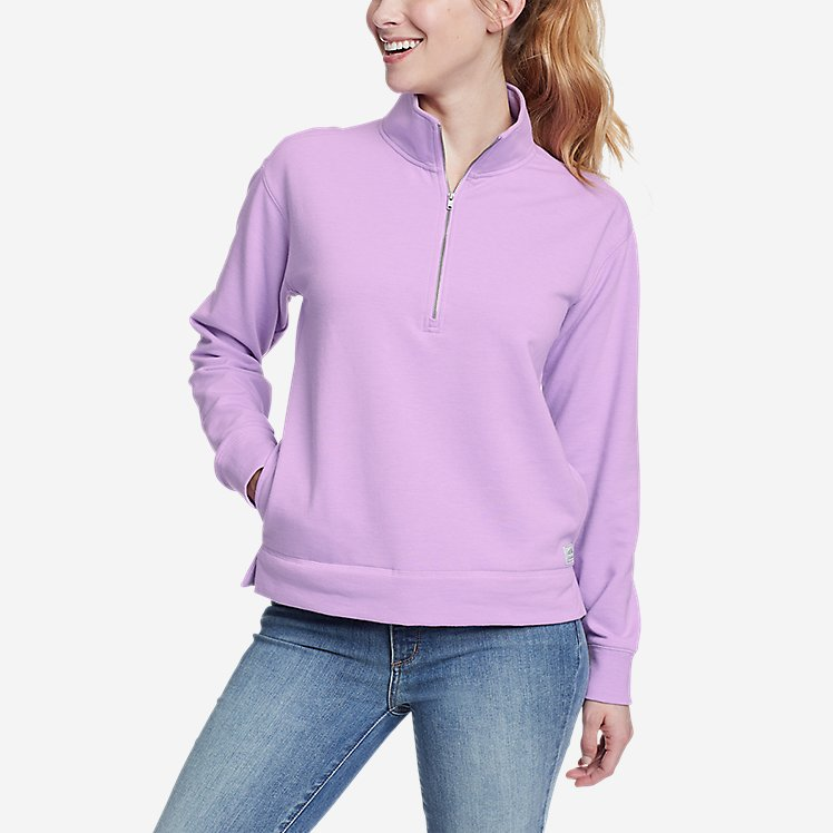 Women's Cozy Camp 1/4-Zip Sweatshirt large version