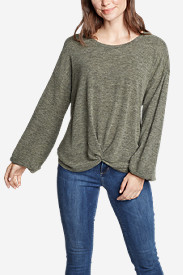Women's Long-Sleeve Knotted-Front Shirt