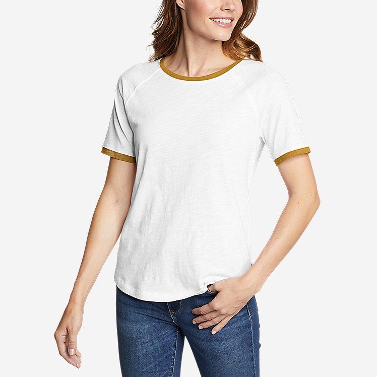 Women's Legend Wash Short-Sleeve Color-Block T-Shirt large version