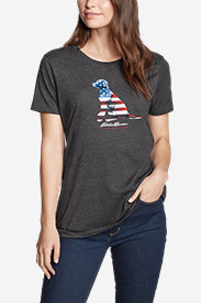 Women's Graphic T-Shirt - USA Dog