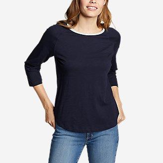 Thumbnail View 1 - Women's Legend Wash 3/4-Sleeve Color-Block T-Shirt