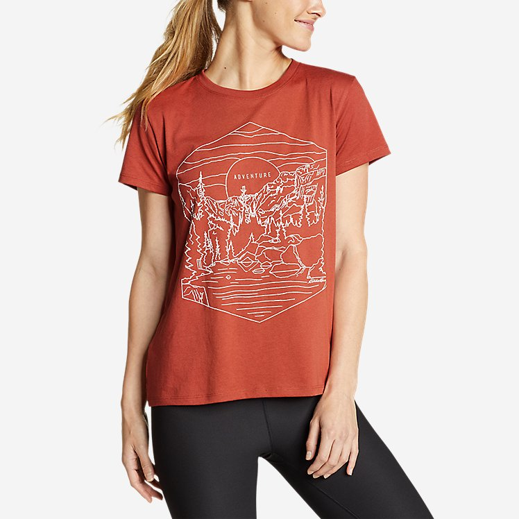 Women's Graphic T-Shirt - Line Drawing large version