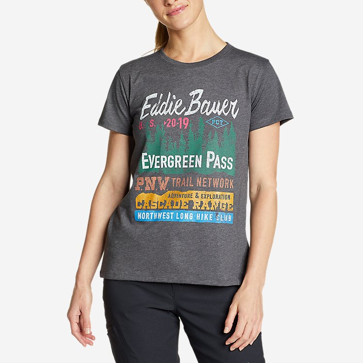 Women's Graphic T-Shirt - Evergreen Pass large version