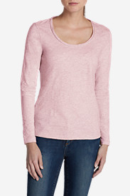Women's Essential Slub Long-Sleeve Scoop-Neck T-Shirt