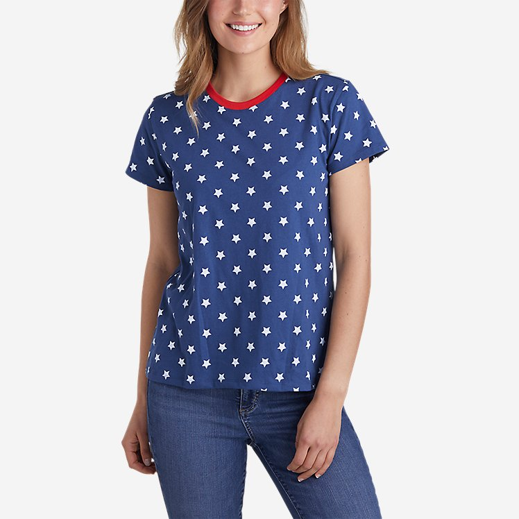 Women's Graphic T-Shirt - Allover Star large version
