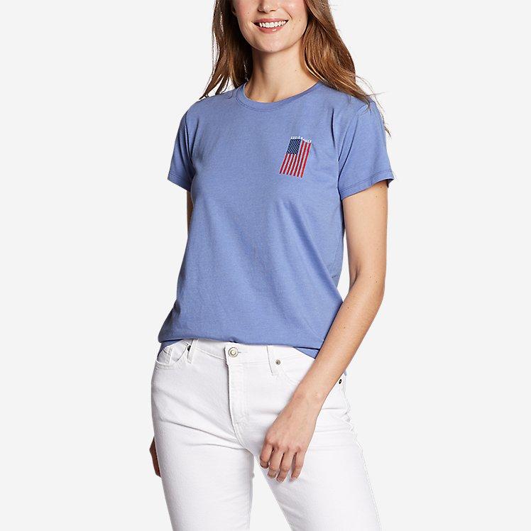 Women's Graphic T-Shirt - Live Your Adventure Flag large version