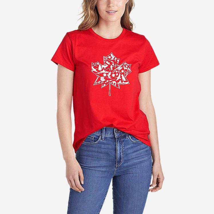 Women's Graphic T-Shirt - Maple Leaf large version