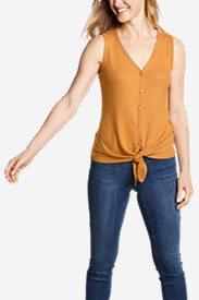 Women's Thermal Tie-Front Tank Top