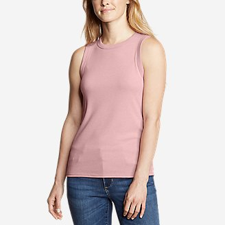 Thumbnail View 1 - Women's Ribbed Tank Top - Solid