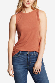 Women's Ribbed Tank Top - Solid