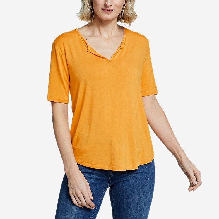 Women's Soft Layer  Notch-Neck T-Shirt large version