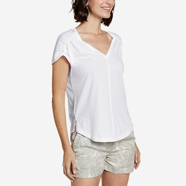 Women's Gate Check Ruched T-Shirt large version