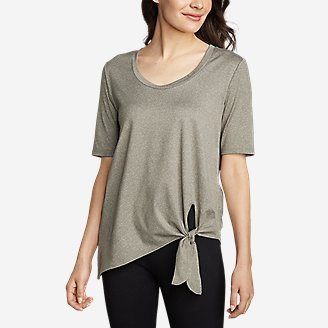 Thumbnail View 1 - Women's 3/4-Sleeve Side-Tie Top