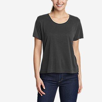 Thumbnail View 1 - Women's Sandwash Scoop-Neck Short-Sleeve T-Shirt