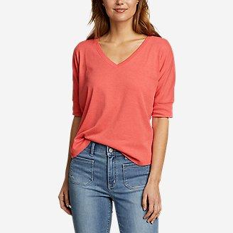 Thumbnail View 1 - Women's Favorite Short-Sleeve V-Neck Easy T-Shirt
