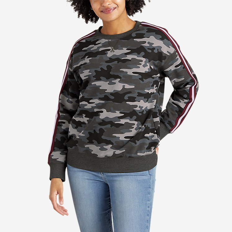 Women's Cozy Camp Crew - Print with Taping large version