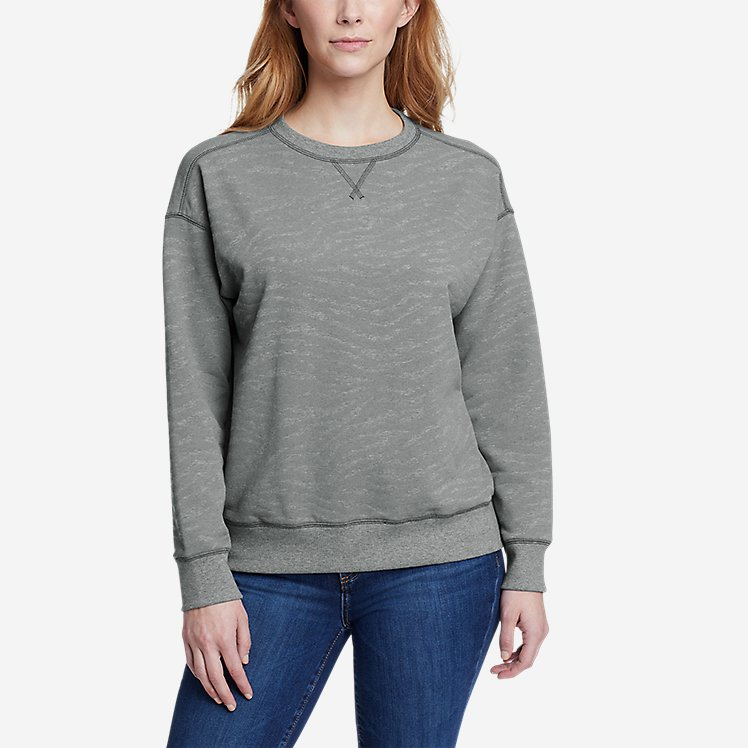 Women's Cozy Camp Crewneck Sweatshirt - Print large version