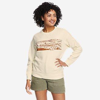 Thumbnail View 1 - Women's Cozy Camp Crewneck Sweatshirt - Print