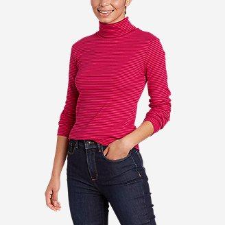 Thumbnail View 1 - Women's Favorite Long-Sleeve Turtleneck - Stripe