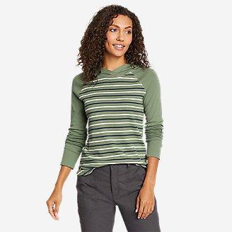 Thumbnail View 1 - Women's Favorite Shirttail Hem Long-Sleeve Hoodie