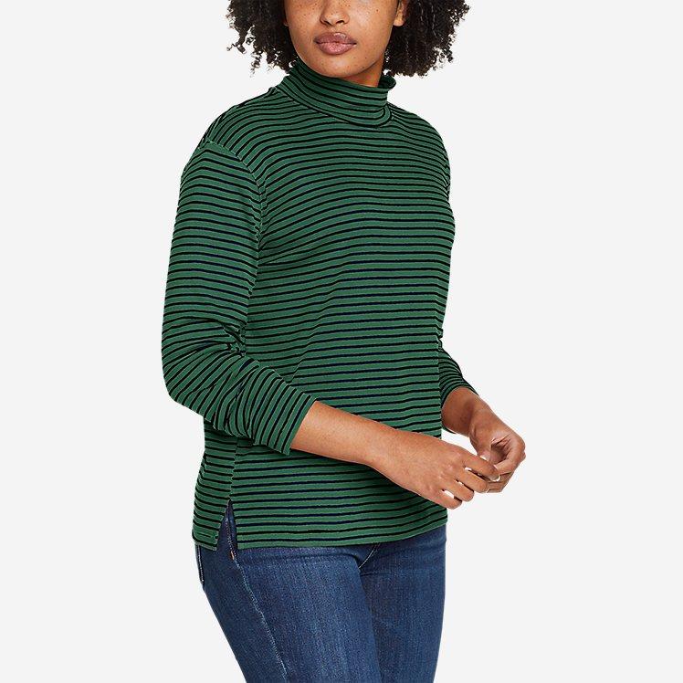 Women's Favorite Long-Sleeve Mock-Neck T-Shirt - Stripe large version