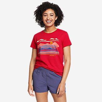Thumbnail View 1 - Women's Graphic T-Shirt - Watercolor Mountain