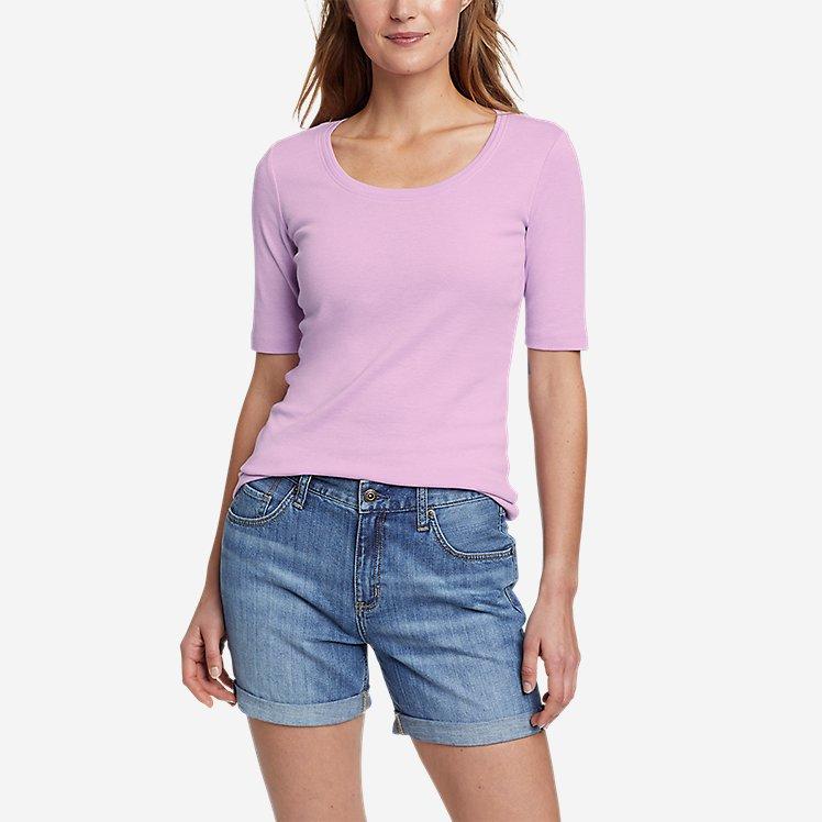 Women's Favorite Elbow-Sleeve T-Shirt large version