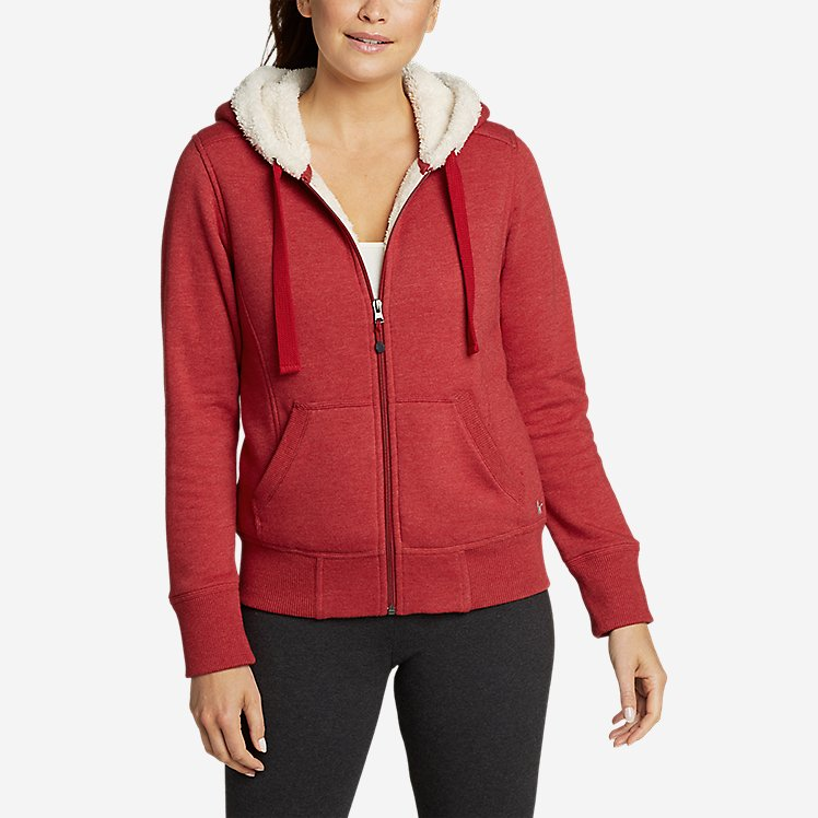 Women's Cabin Fleece Sherpa Hoodie large version