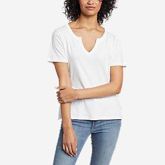 Thumbnail View 1 - Women's Favorite Short-Sleeve Notch-Neck T-Shirt