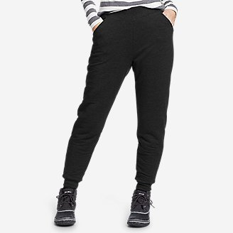 Thumbnail View 1 - Women's Snow Lodge Sherpa-Lined Jogger Pants
