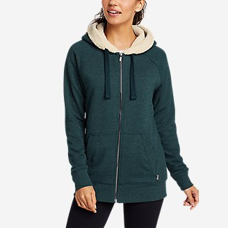 Thumbnail View 1 - Women's Snow Lodge Sherpa-Lined Full-Zip Sweatshirt