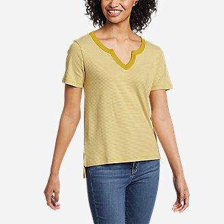 Thumbnail View 1 - Women's Favorite Short-Sleeve Notch-Neck T-Shirt - Stripe
