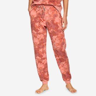 Thumbnail View 1 - Women's Cozy Camp Fleece Jogger Pants - Print