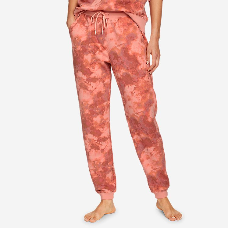 Women's Cozy Camp Fleece Jogger Pants - Print large version