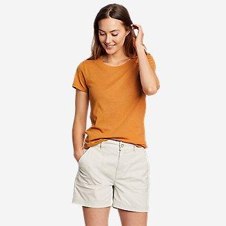 Thumbnail View 1 - Women's Favorite Short-Sleeve Shirttail T-Shirt