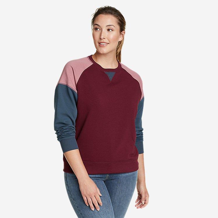 Women's Cozy Camp Sweatshirt - Color Block large version