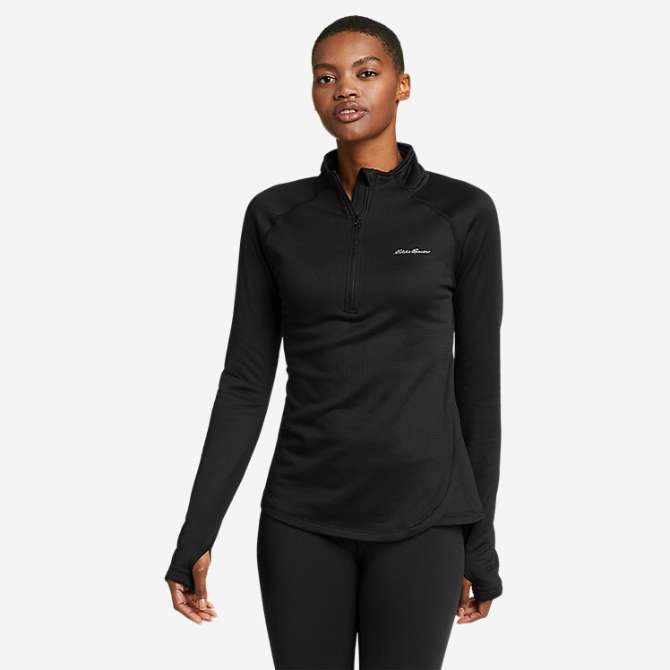 Women's Mini Grid Fleece Baselayer 1/2-Zip large version