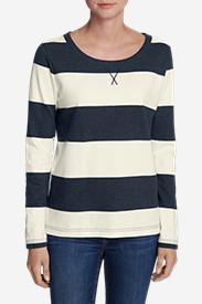 Women's Rugby Stripe Sweatshirt