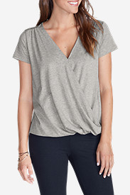 Women's Girl on The Go® Draped Cross Front Top