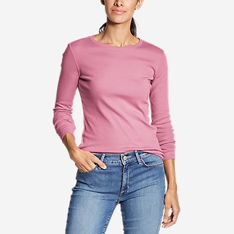Thumbnail View 1 - Women's Favorite Long-Sleeve Crewneck T-Shirt