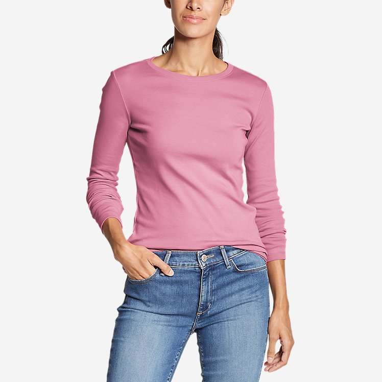 Women's Favorite Long-Sleeve Crewneck T-Shirt large version