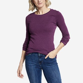Thumbnail View 1 - Women's Favorite Long-Sleeve Crewneck T-Shirt