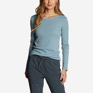 Eddie Bauer Womens Favorite Long-Sleeve Crewneck T-Shirt