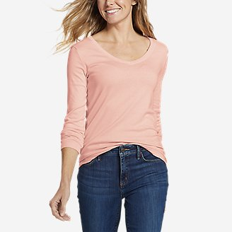 Thumbnail View 1 - Women's Favorite Long-Sleeve V-Neck T-Shirt